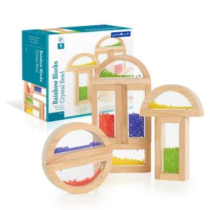 Sensory Rainbow Blocks Crystal Beads