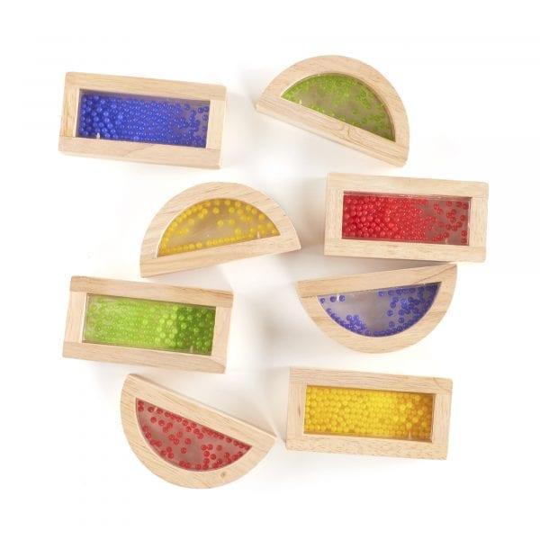 Sensory Rainbow Blocks Crystal Beads