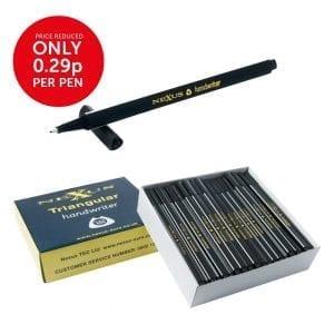 Nexus Triangular Handwriters Black – 166mm (100 Pack)