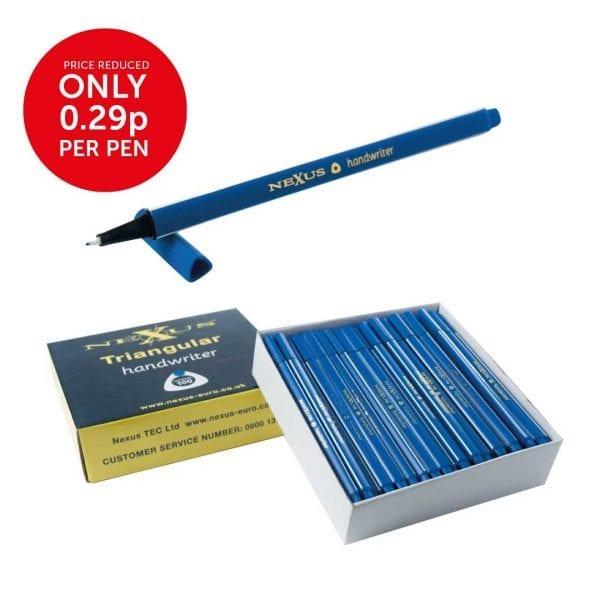 Nexus Triangular Handwriters Blue – 166mm (100 Pack)