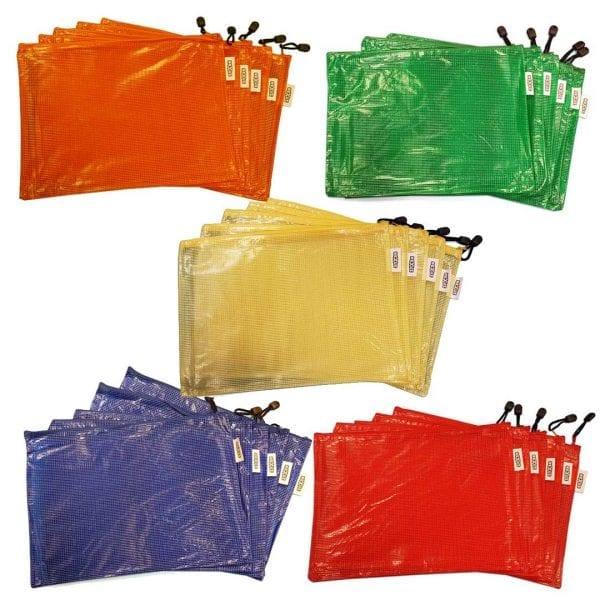 Essential Kit Zipper Bags (26cm x 36cm) 5 Colours