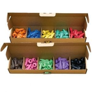 'Pegs to' Range 10 x Wood Pulp Pegs 10 Colours