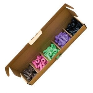 'Pegs to' Range 50 x Wood Pulp Pegs (Brown, Pink, Light Green, Purple, Black)