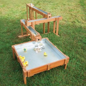 Outdoor Waterfall with Sand and Water Table and Pump