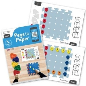 Pegs to Paper Step 1 Work Cards