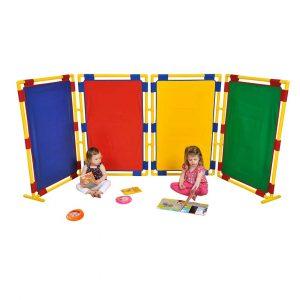 4 Rectangular Coloured Panels