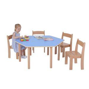 Pastel Hexagon Table
