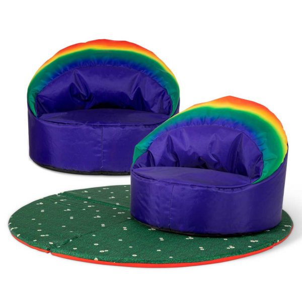 2 Pack Rainbow Cup Chair