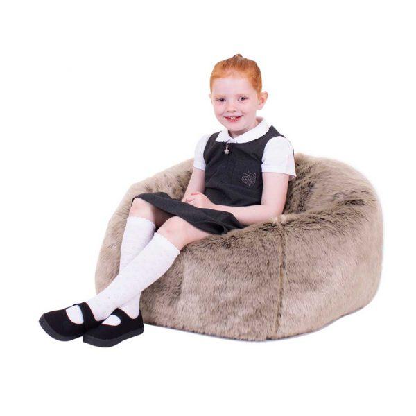 Mink Faux Fur Children's Bean Bag