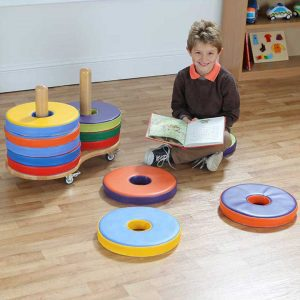 Donut Floor Cushions and Trolley