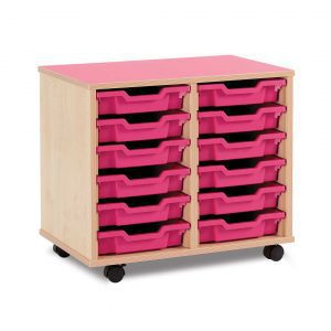 12 Shallow Tray Unit with Castors