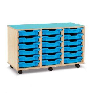 18 Shallow Tray Unit with Castors