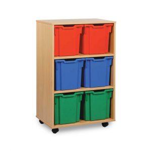 6 jumbo tray unit (vertical) W700 x D453 x H1067mm (2 columns of 3)