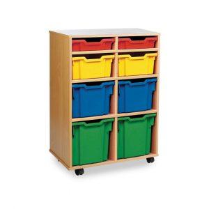 8 variety tray unit – 2 shallow, 2 deep, 2 3/4, 2 jumbo tray unit W700 x D453 x H967mm (2 columns of 4)