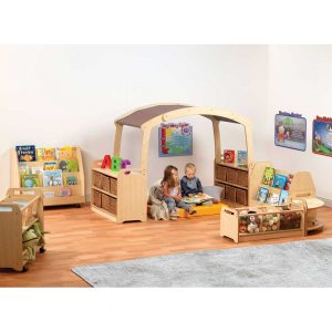 Playscapes Cosy Reading Zone With Taupe Roof
