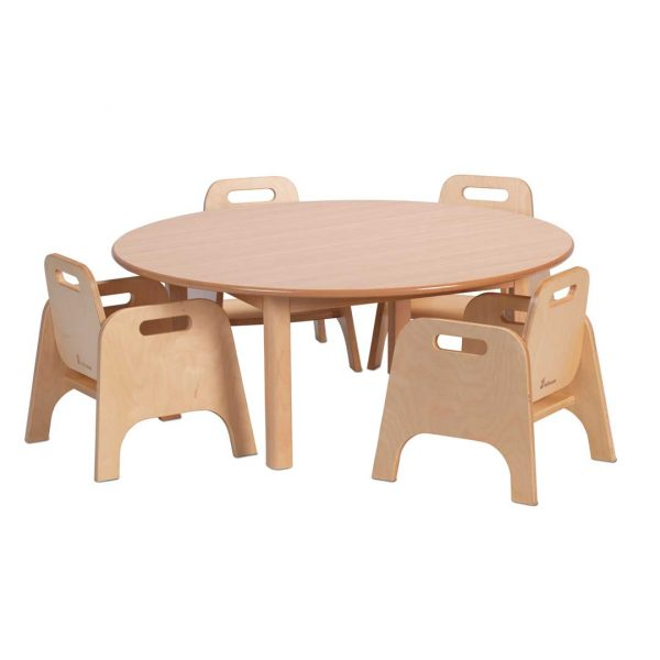 Circular Table & 4 Sturdy Chairs
