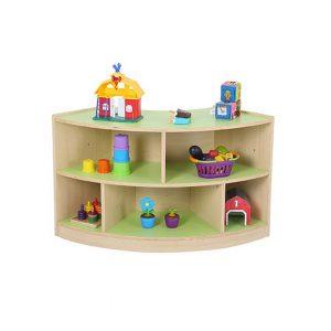 Pastel 2 Shelf Curved Unit Bookcase