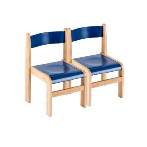 Blue Wooden Chairs Pack of 2