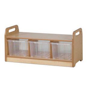 Low Level Storage Bench – Clear Trays